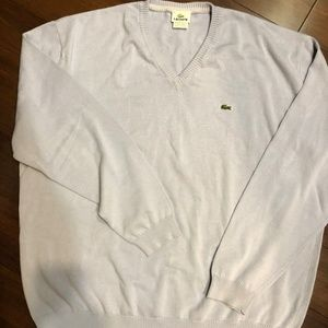 Lacoste Solid V-Neck Long Sleeve Cotton Sweater 9